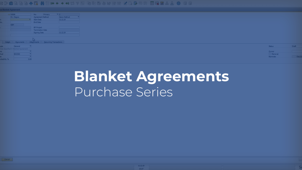 Blanket Agreements