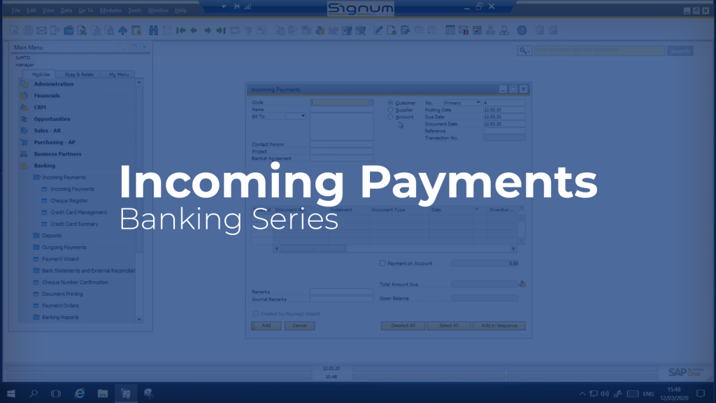 Incoming Payments