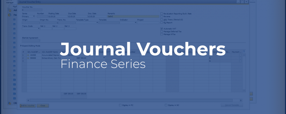 SAP Business One Journal Vouchers video cover image