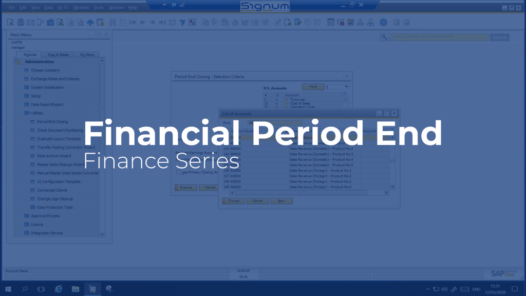 Financial Period End