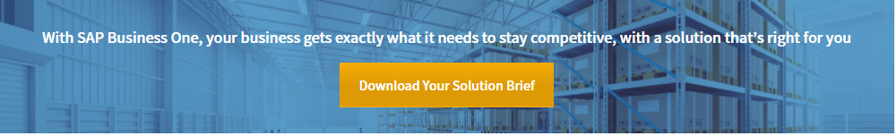 Signum Solutions web banner, SAp Business One solution brief